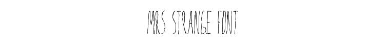 Mrs Strange