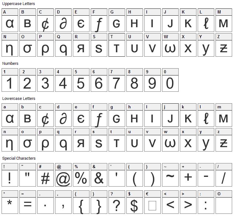 Msn Weird Font Character Map