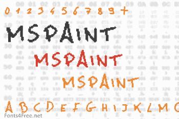 MsPaint Font