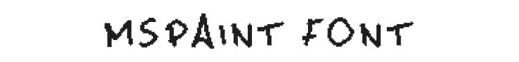 MsPaint Font Preview