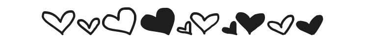 MTF Heart Doodle Font Preview
