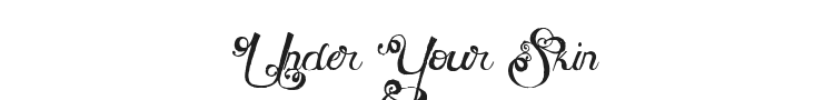 MTF Under Your Skin Font Preview