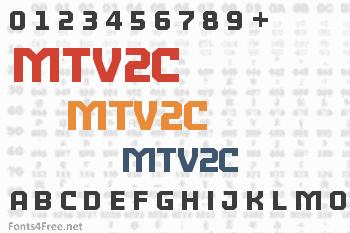 MTV2C Font
