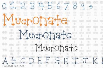 Mucronate Font