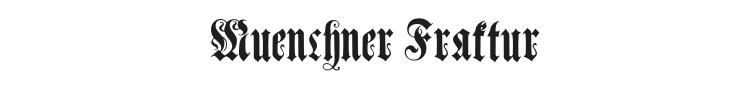 Muenchner Fraktur Font Preview