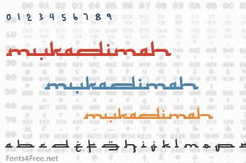 Mukadimah Font