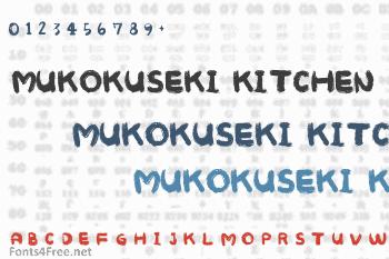 Mukokuseki Kitchen Font
