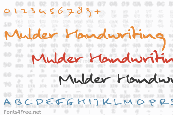 Mulder Handwriting Font