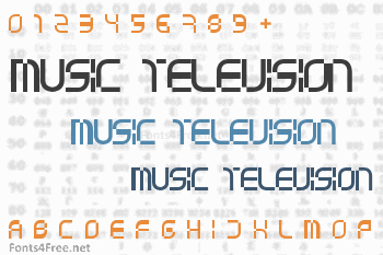 Music Television Selector Font