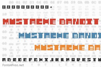 Mustache Bandit Font