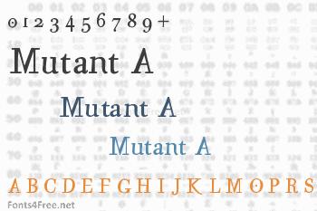 Mutant A Font