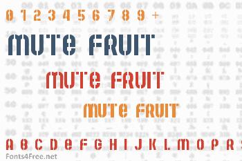 Mute Fruit Font