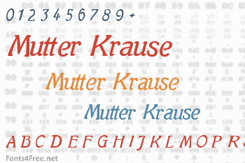 Mutter Krause Font