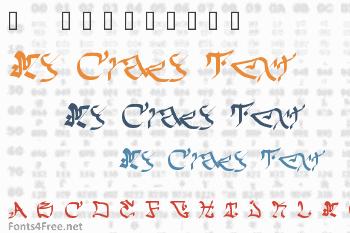 My Crazy Text Font