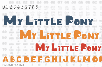 My Little Pony Font