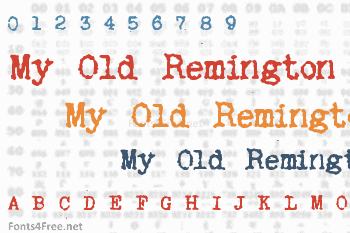 My Old Remington Font