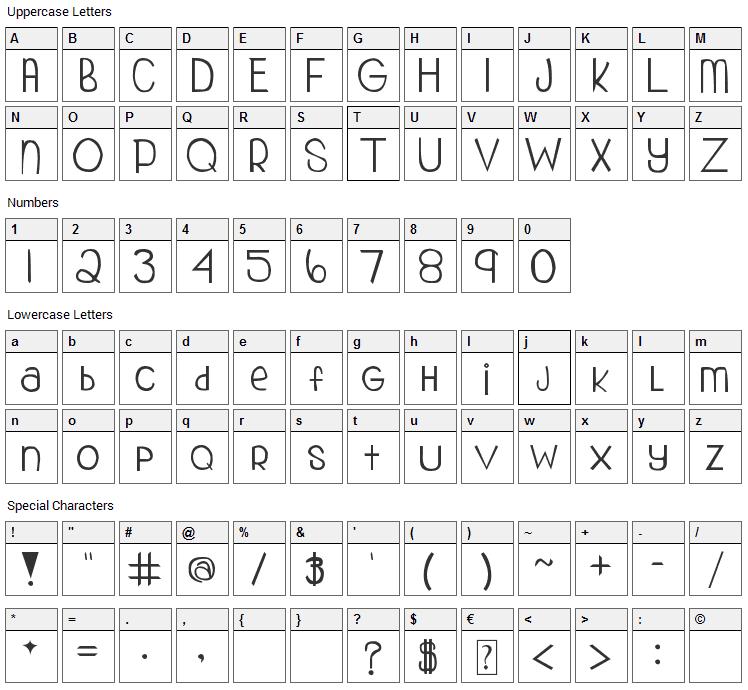 My Organization Font Character Map