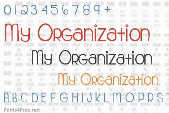 My Organization Font