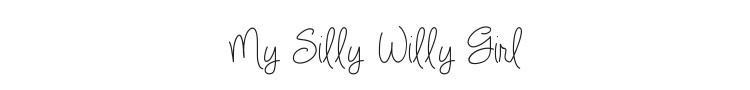 My Silly Willy Girl Font Preview