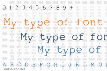 My type of font Font