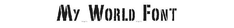 My World Font Preview