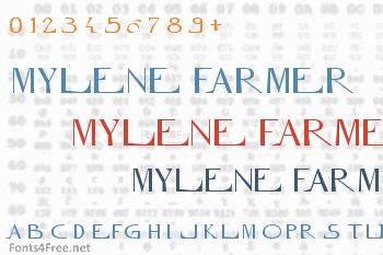 Mylene Farmer Font