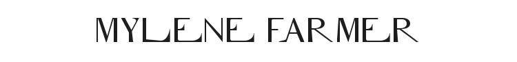 Mylene Farmer Font Preview