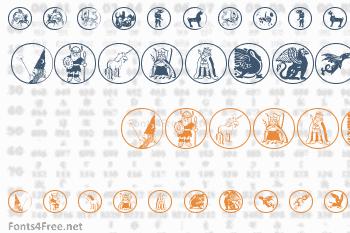 Mythological Disks Font