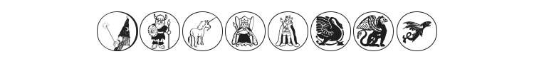 Mythological Disks Font Preview