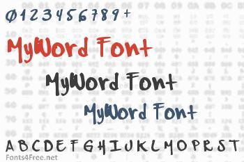 MyWord Font