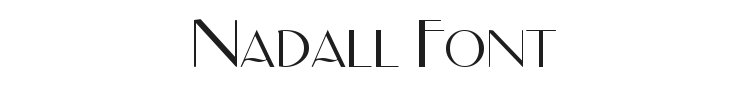 Nadall Font Preview