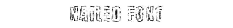Nailed Font