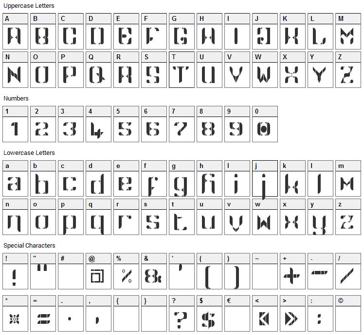 Namaskar Font Character Map
