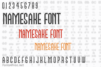 Namesake Font