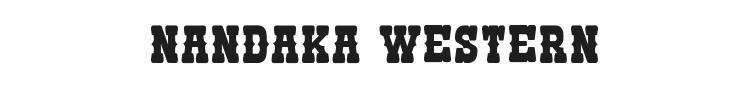 Nandaka Western Font Preview