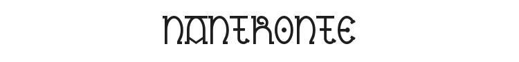 Nantronte Font Preview