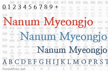 Nanum Myeongjo Font