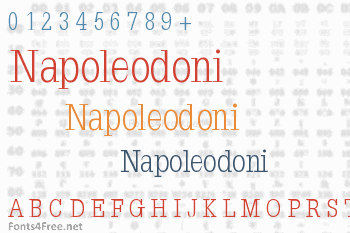 Napoleodoni Font