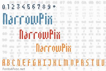 NarrowPix Font