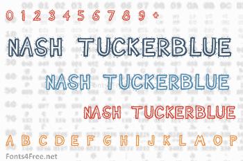 Nash TuckerBlue Font