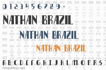 Nathan Brazil Font