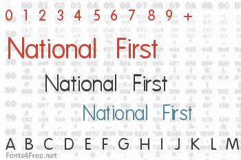 National First Font