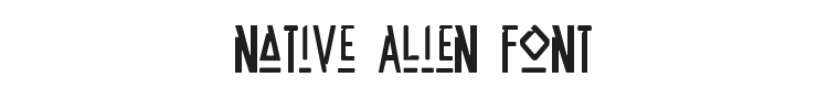 Native Alien Font Preview