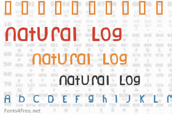 Natural Log Font