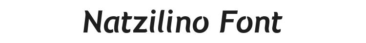 Natzilino Font Preview