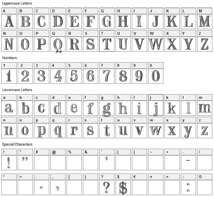Nauert Font Character Map