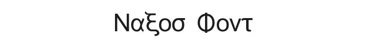 Naxos Font Preview