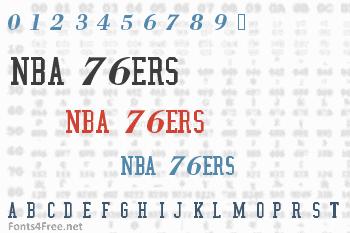 NBA 76ers Font