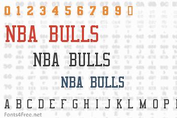 NBA Bulls Font