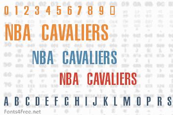 NBA Cavaliers Font